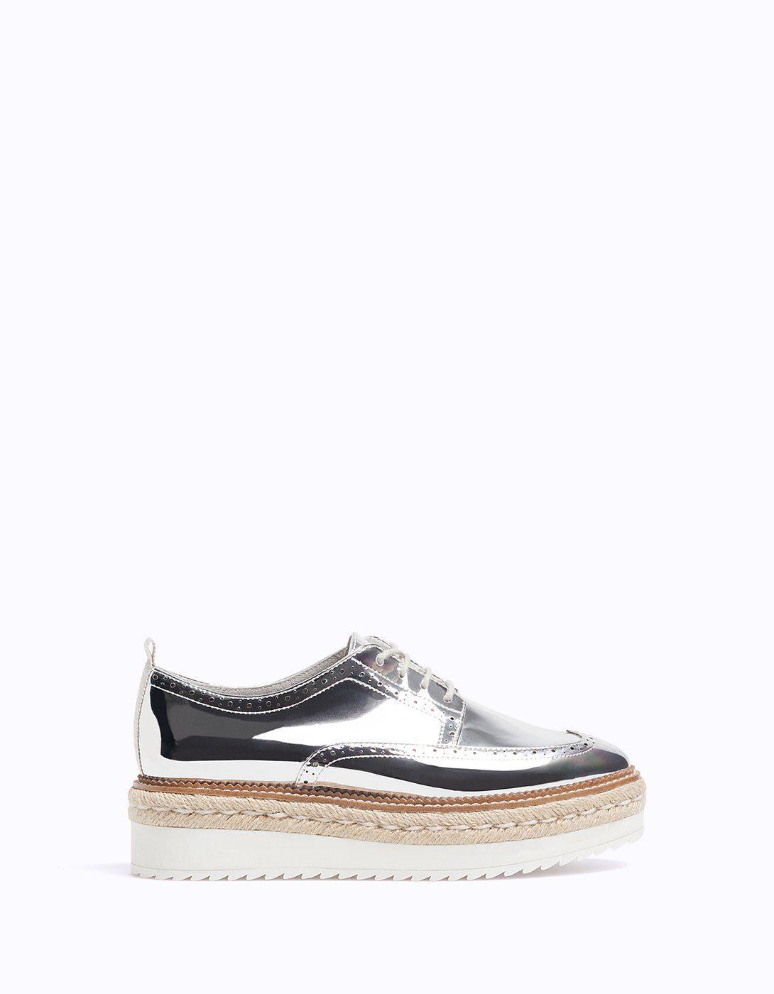1a85abc6e51db Blucher metalizado piso yute - Zapatos