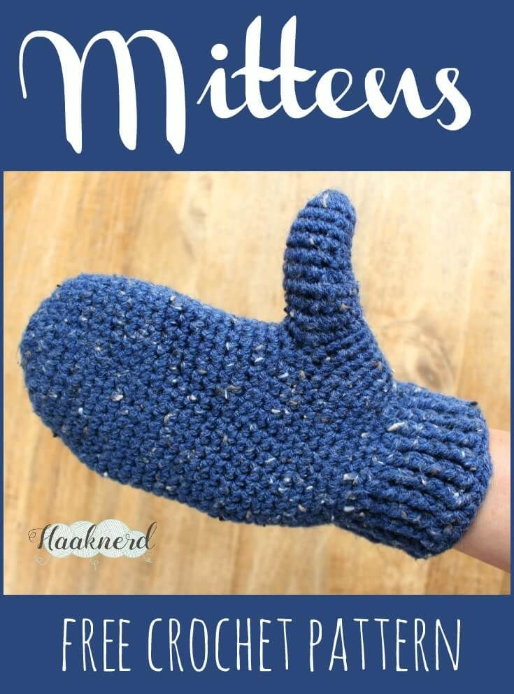 Free crochet pattern with photo tutorial for Mittens | Esponjas de ...