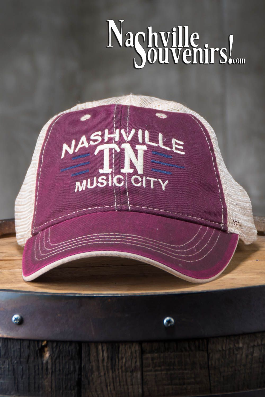 Maroon Nashville Tn Music City Hat Nashvillesouvenirs Com Nashville City Music