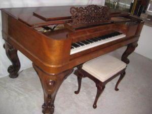 Gabler Rococo Style Square Grand Piano 1868a Beautiful