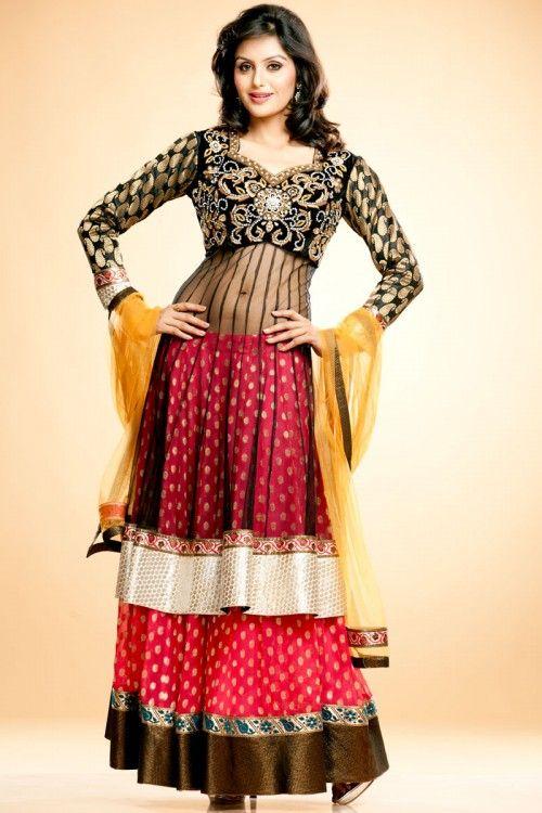 aaa7ed6c44 Designer Long Top Lehenga Choli Price:£ 129 Shop this Readymade Long top lehenga  choli