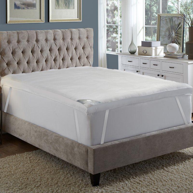 Platinum 5 Feather Mattress Topper Cal King Bedding Mattress Topper Hotel Pillows