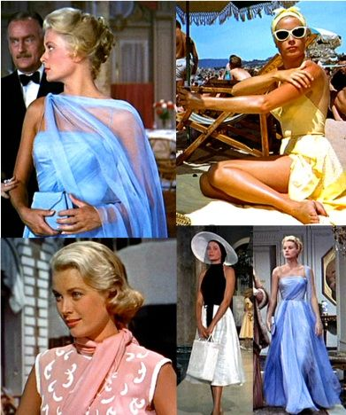Grace Kelly  in To Catch a Thief  1955.   The clothes, the hair, the scenery, the cars...Hollywood glamour at it's best.  Loved her.