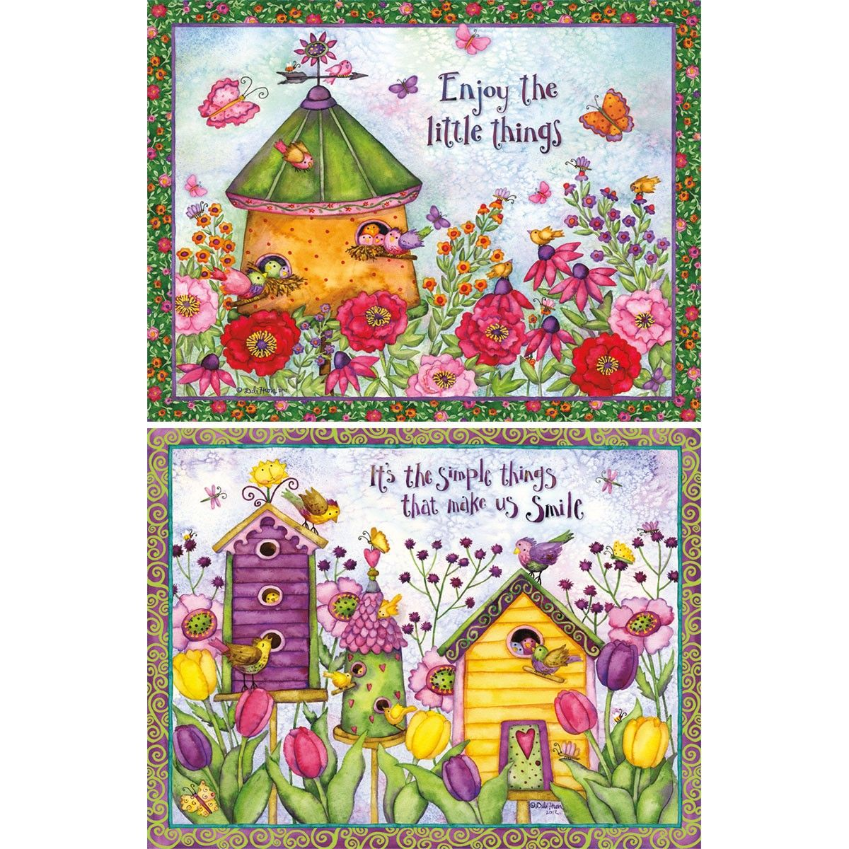 Bird Houses Deluxe Note Cards 2080508 Lang Greeting Card Art