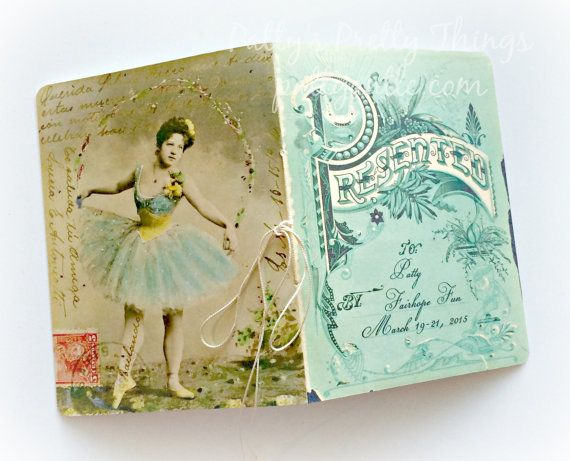 Handmade Vintage Personalized Journal by PattyAntlesPrettys