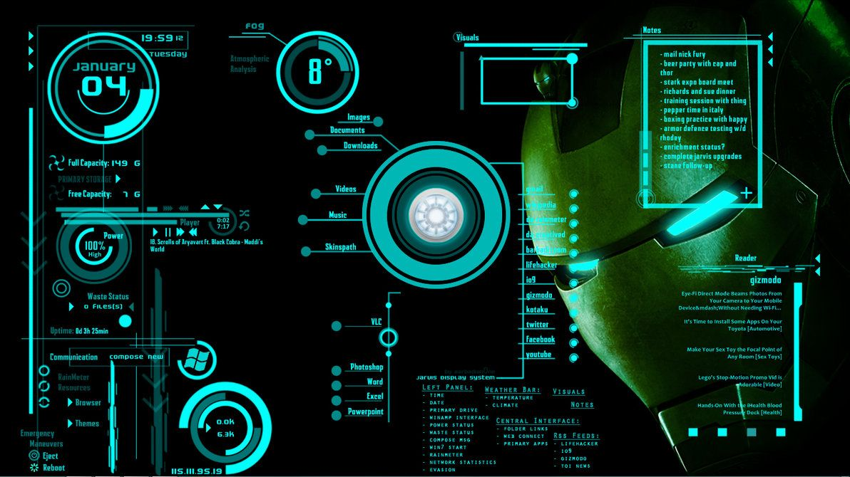 Turn Your Laptop Into Jarvis From Iron Man Real Hackers Point Live Wallpaper For Pc Wallpaper Pc Live Wallpapers