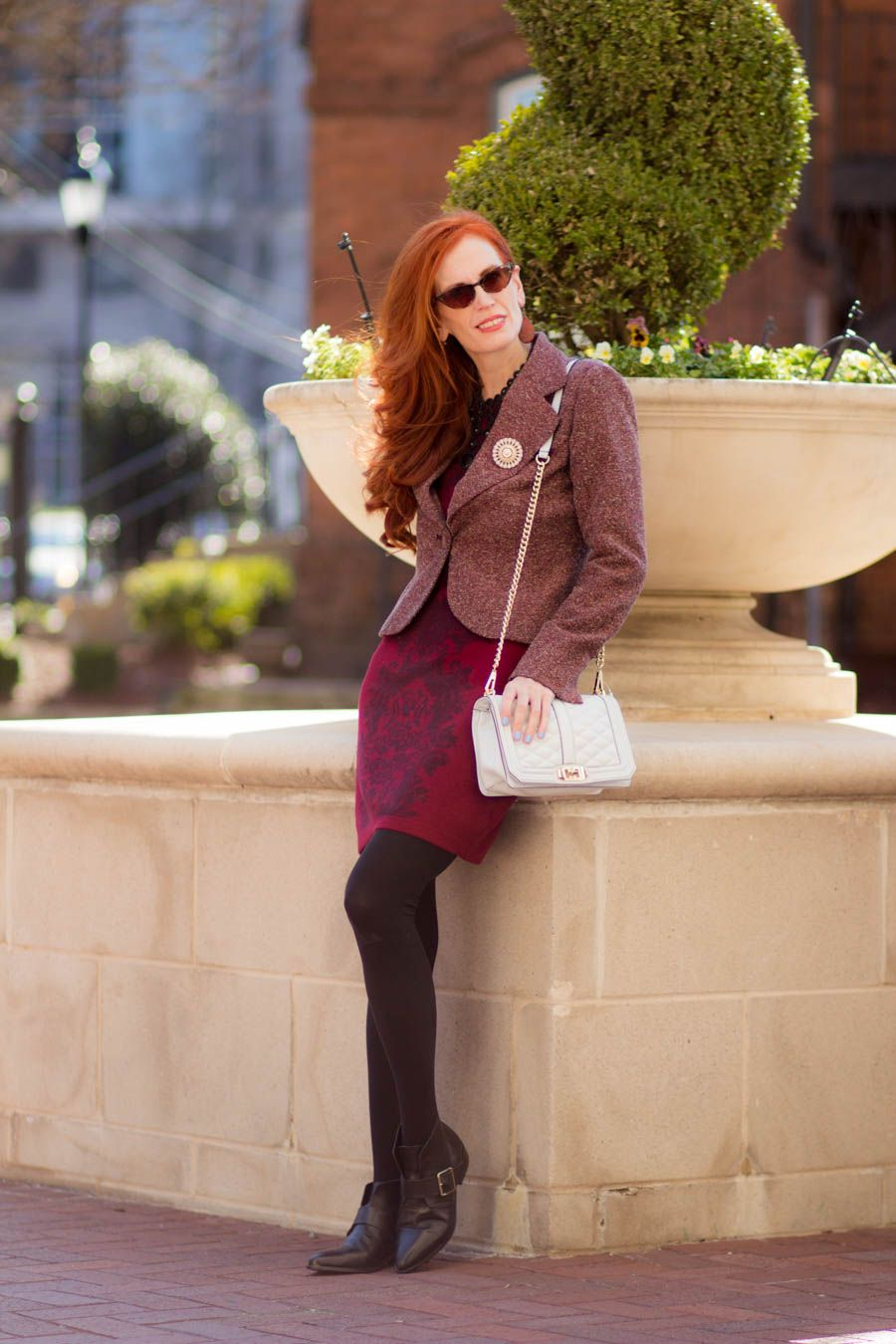 My Refined Style #linkup-#6 -Sweater Dressing with Rich Colors - Elegantly Dressed & Stylish - Over 40 Fashion Blog