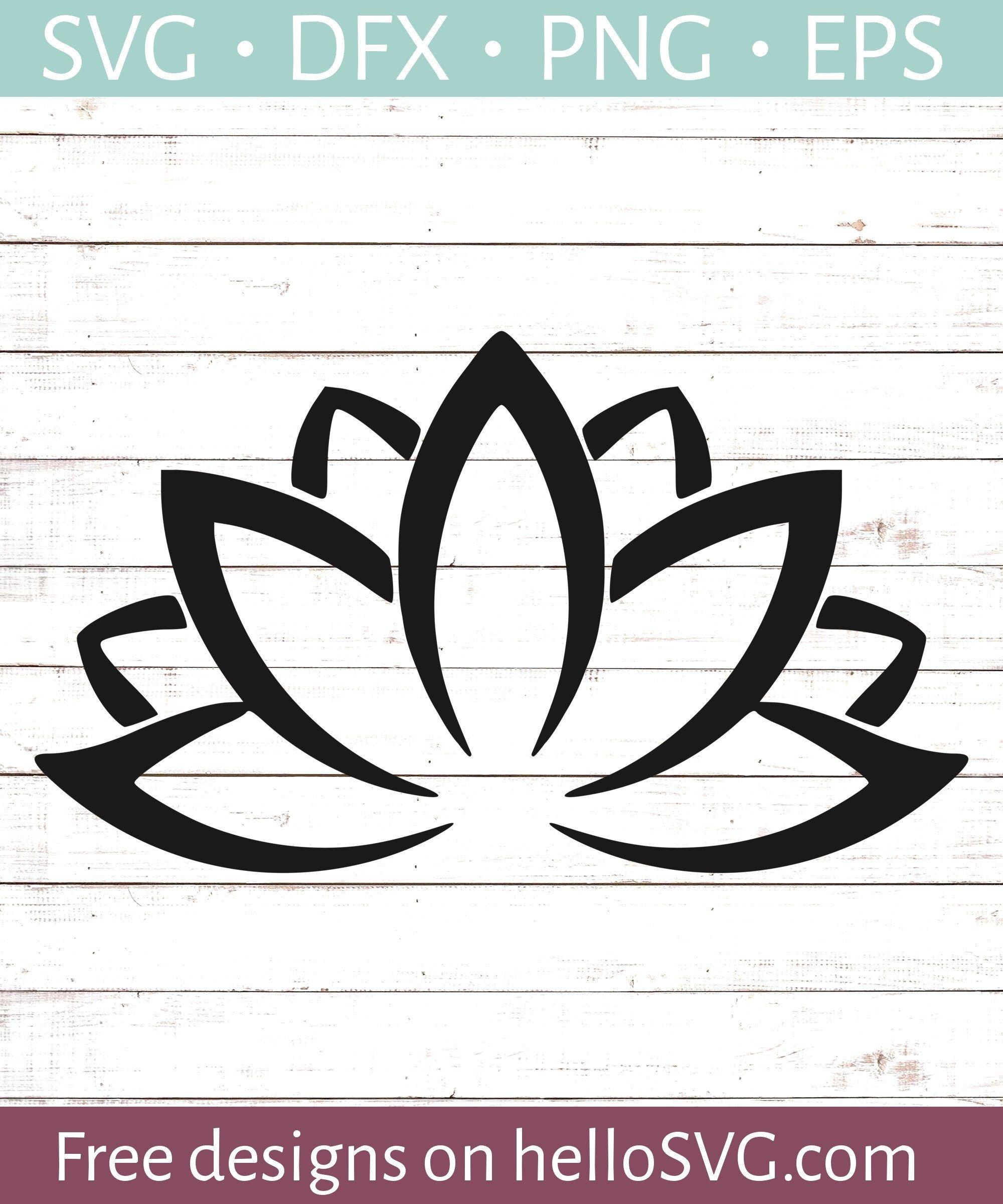 Lotus Flower 2 SVG Free SVG files Svg