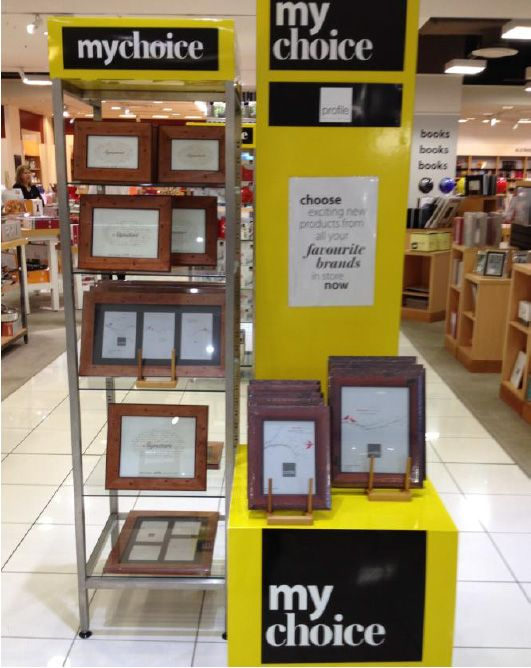 As Seen In Myer Our Fluted Mahogany Timber Photo Frame Collection