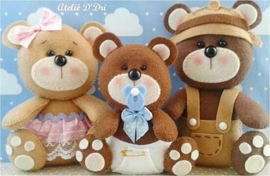 Urso feltro- familia