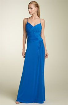 Calvin Klein Ruched Matte Jersey Gown - Dresses - Nordstrom :  blue designer gown designer gown