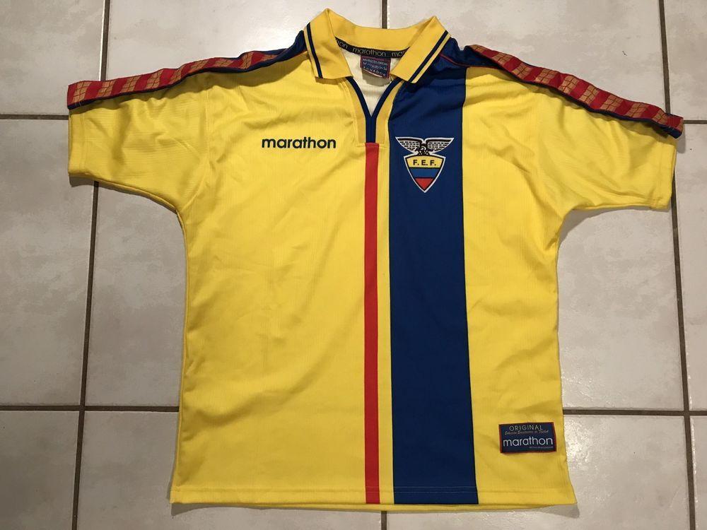 6d239162c Rare Vintage MARATHON Ecuador National Team Soccer Jersey Men s Large