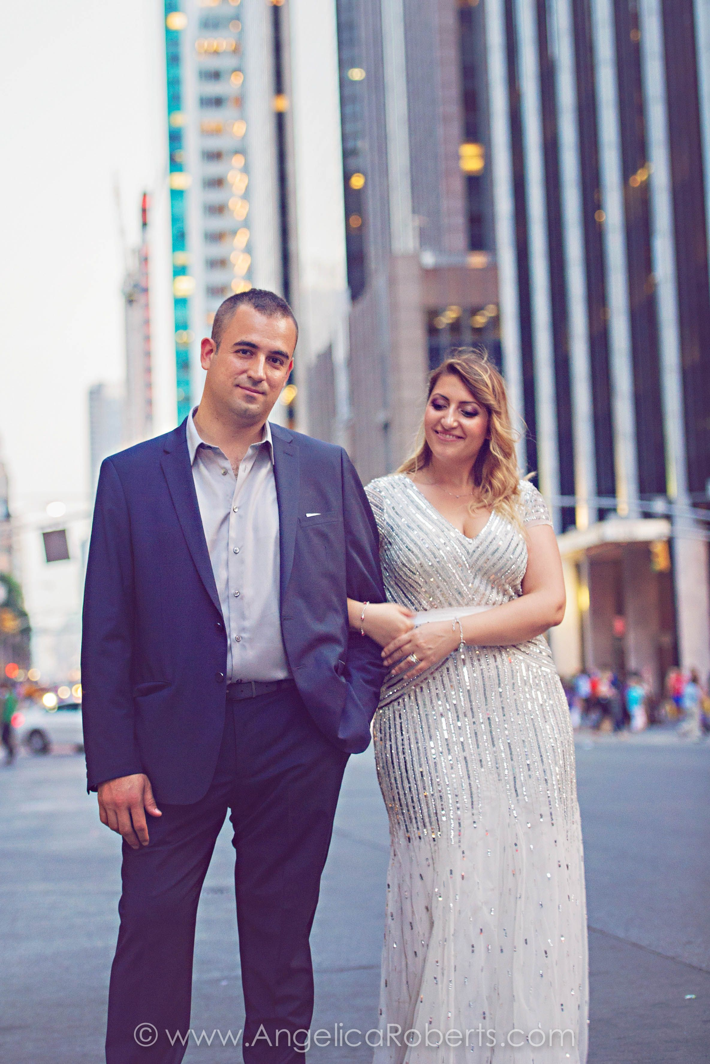 #NYC #street #couple NYC engagement photography by Angelica Roberts Photography. Copyright www.angelicaroberts.com