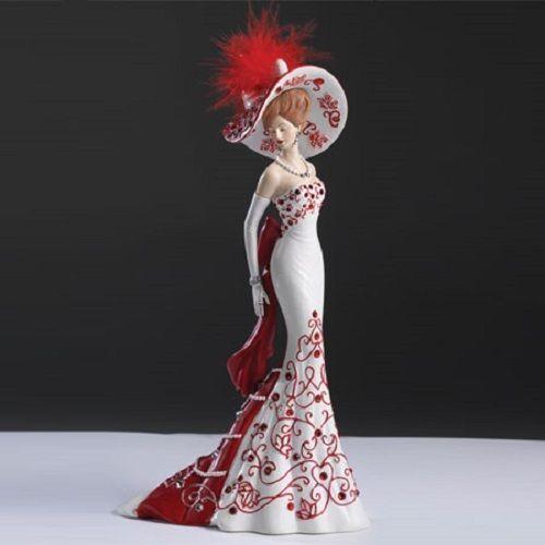 Lady Freedom - Crystal Elegance of Canada Swarovski Figurine - Bradford Exchange