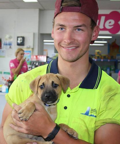 This Hot Guy Adopted A Puppy The Internet Can T Even Puppies Cute Puppies Cute Guys