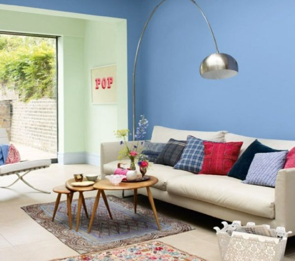 awesome Wandfarben fürs Wohnzimmer u2013 100 trendy Wohnideen für Ihre - wohnzimmer ideen wandgestaltung