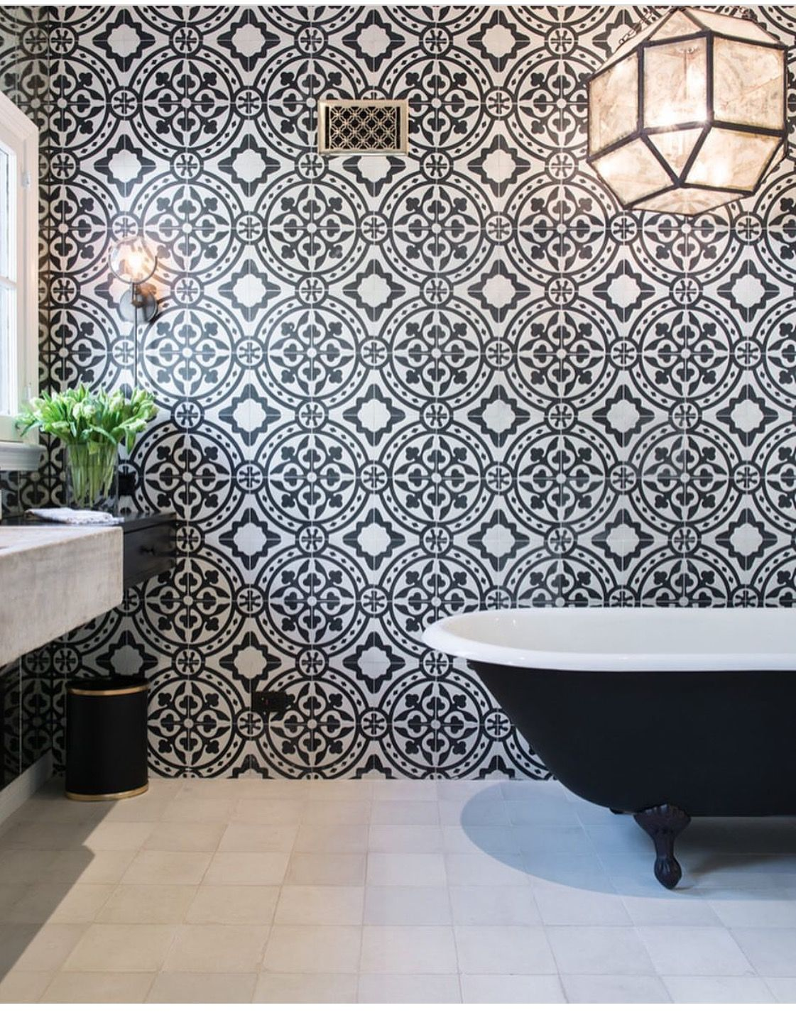 Black And White  Modern Earthy Home Ideas  Pinterest  Master Amazing Black And White Mosaic Tile Bathroom Decorating Design