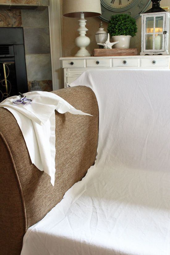 How to make a sectional slipcover, step-by-step. Confessions of a ...