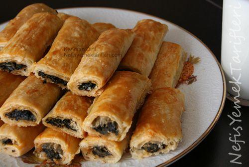 Ispanaklı Kol Böreği (el açması) - Nefis Yemek Tarifleri ...