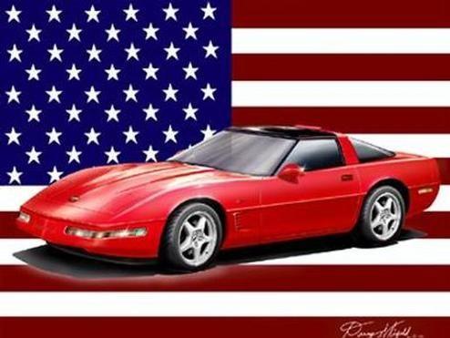1995 Chevrolet Corvette ZR-1 Poster