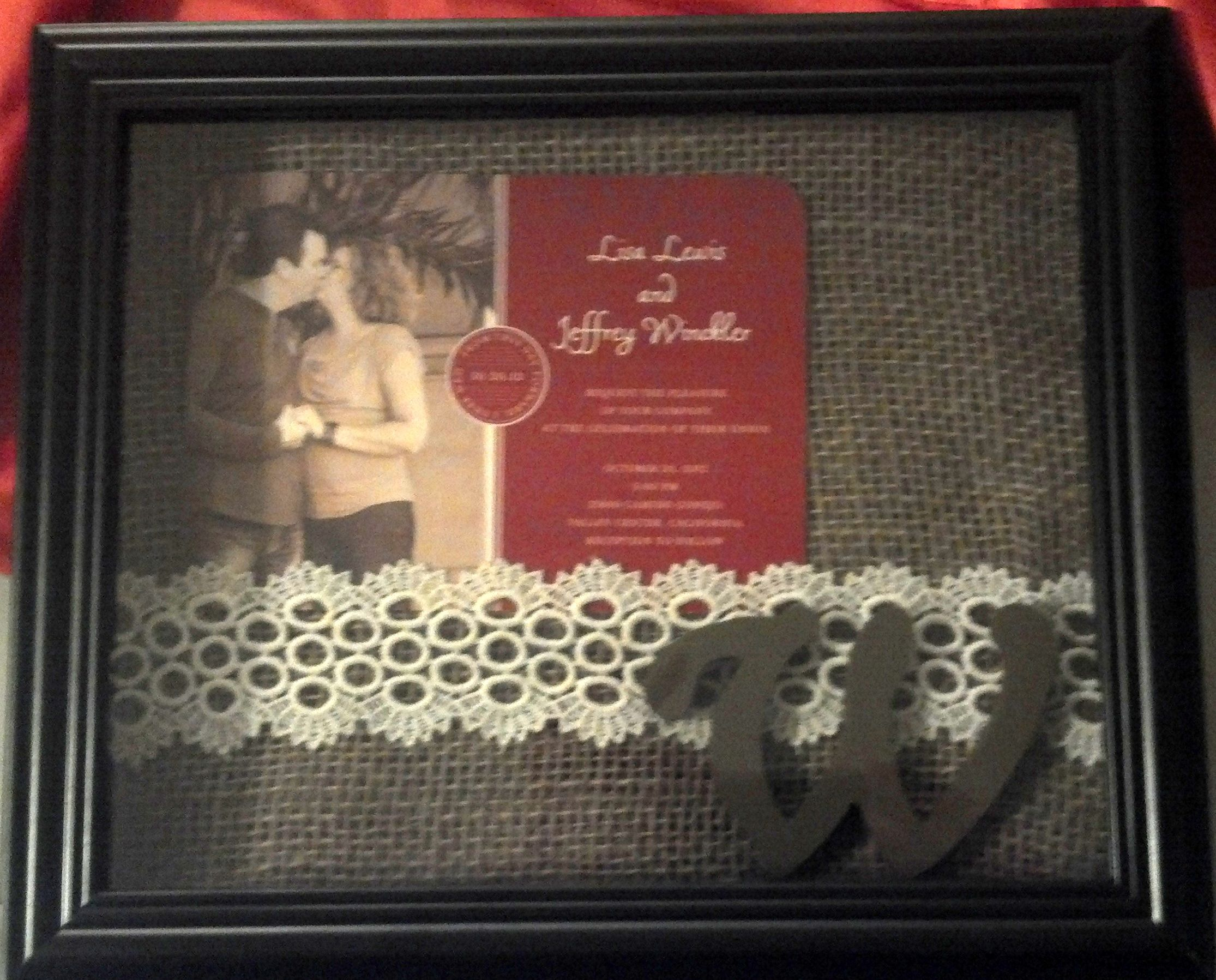 Framed wedding invitation | Crafts - My Creations | Pinterest ...
