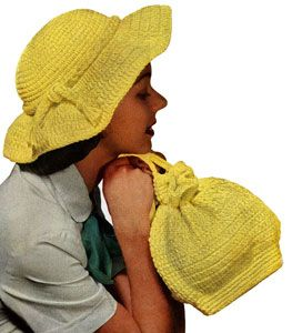51289949849 Yellow Picture Hat and Bag crochet pattern from Handbags and Hats ...