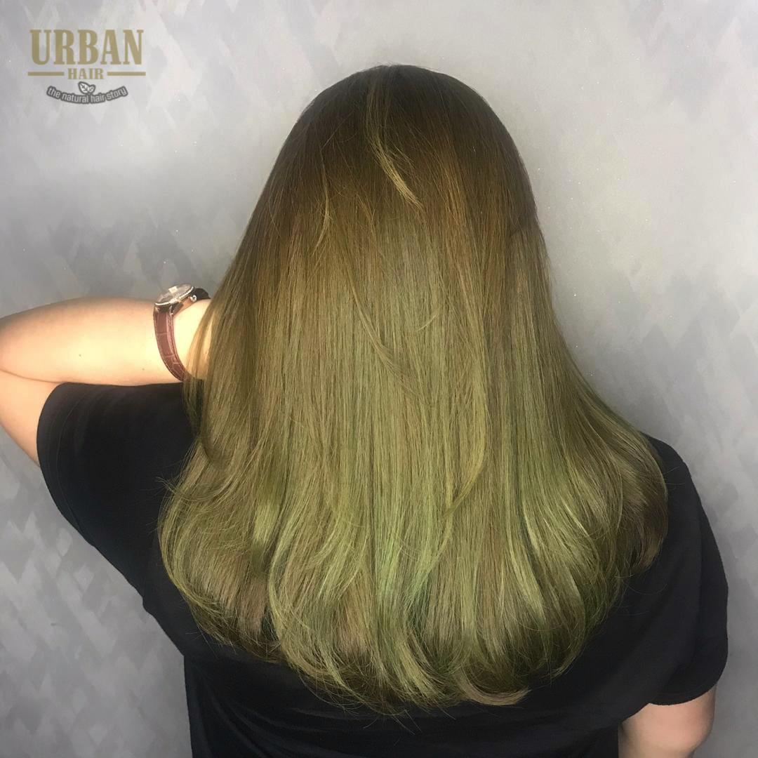 Hair Rebonding Ash Green Hair Ash Green Hair Color Olive Hair