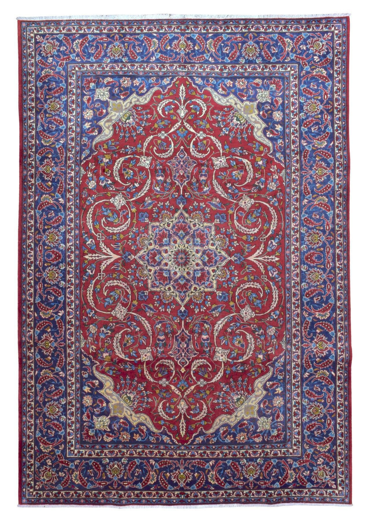 Semi Antique Very Fine Persian Tabriz Oriental Rug