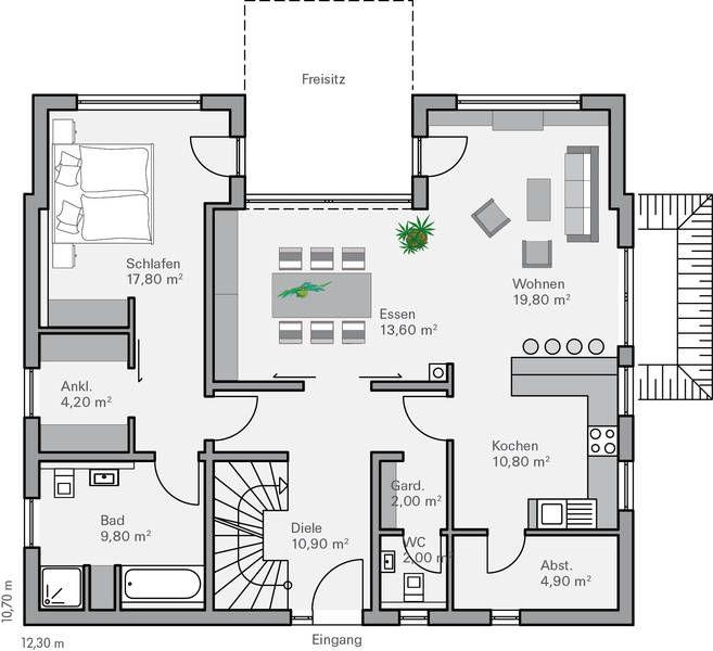 Das bauhaus wird 100 jahre for Zweifamilienhaus stadtvilla