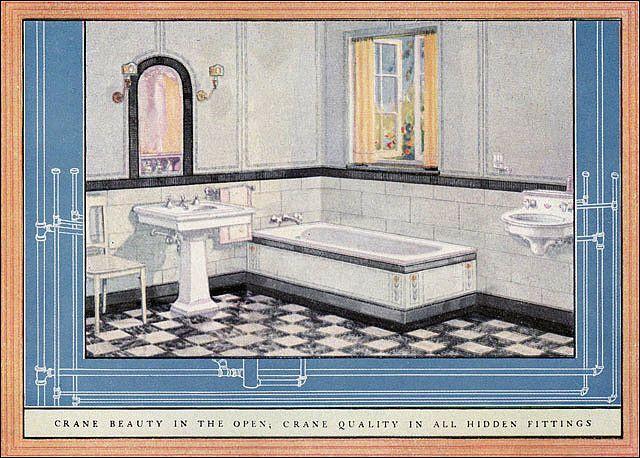 1924 Crane Bathroom Luxury House Designs House Design Photos Vintage Bathrooms