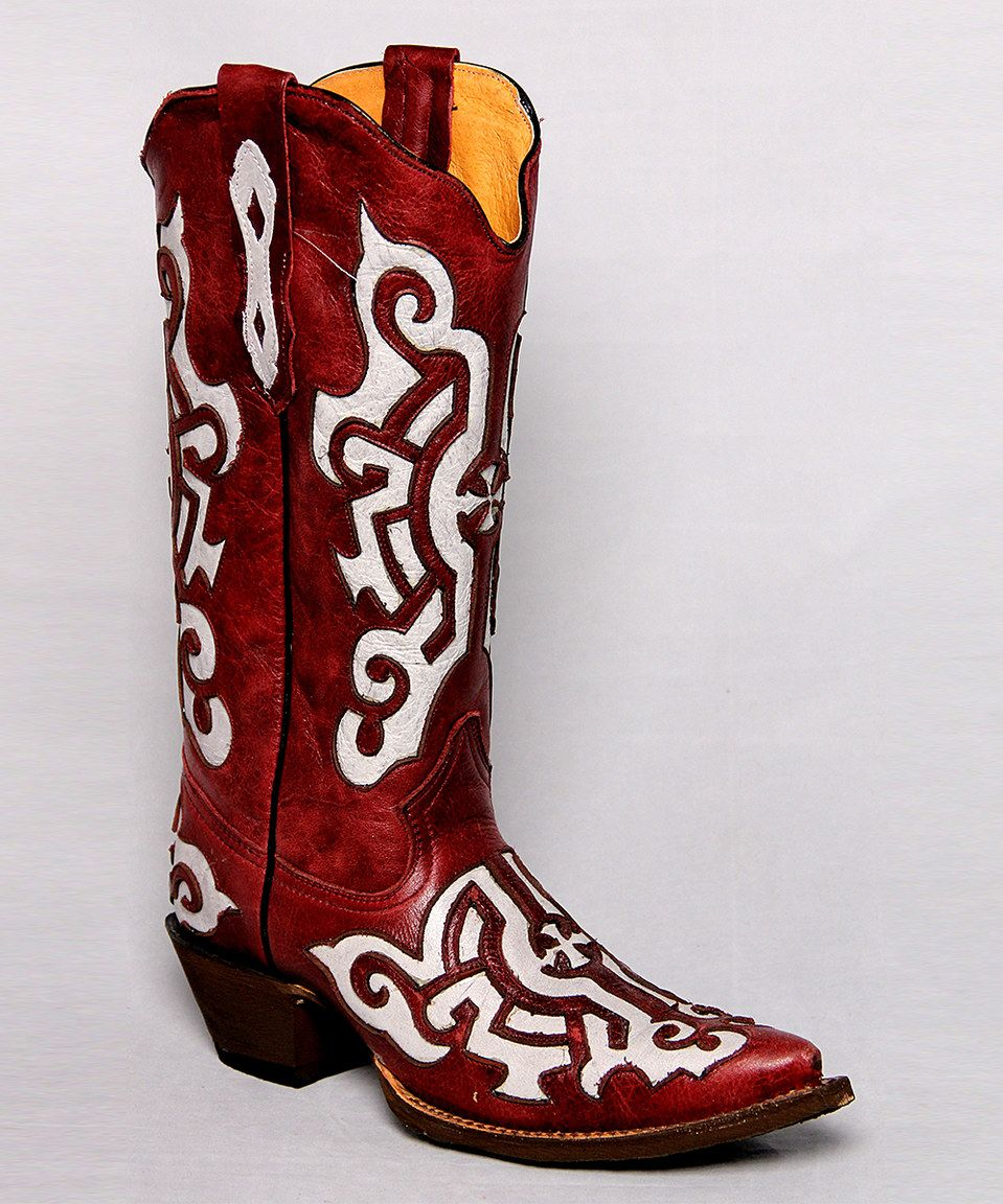 Tanner Mark Boots Wine Bone Distressed Iron Cross Leather Cowboy Boot Boots Leather Cowboy Boots Cowboy Boots