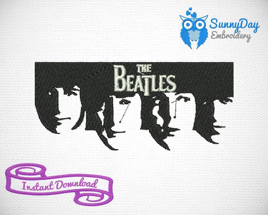 Beatles Art Embroidery Design Beatles Machine Designs Instant