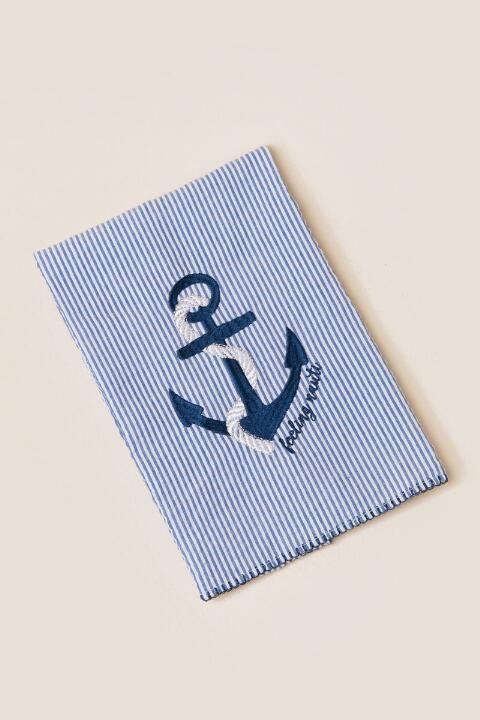 Feelin' Nauti Anchor Seersucker Tea Towel