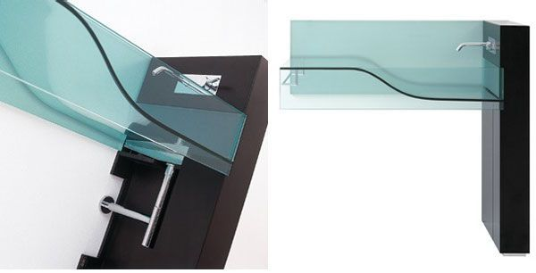 Beautiful Minimalist Glass Sink from Axolo - http://freshome.com/2009/10/21/beautiful-minimalist-glass-sink-from-axolo/