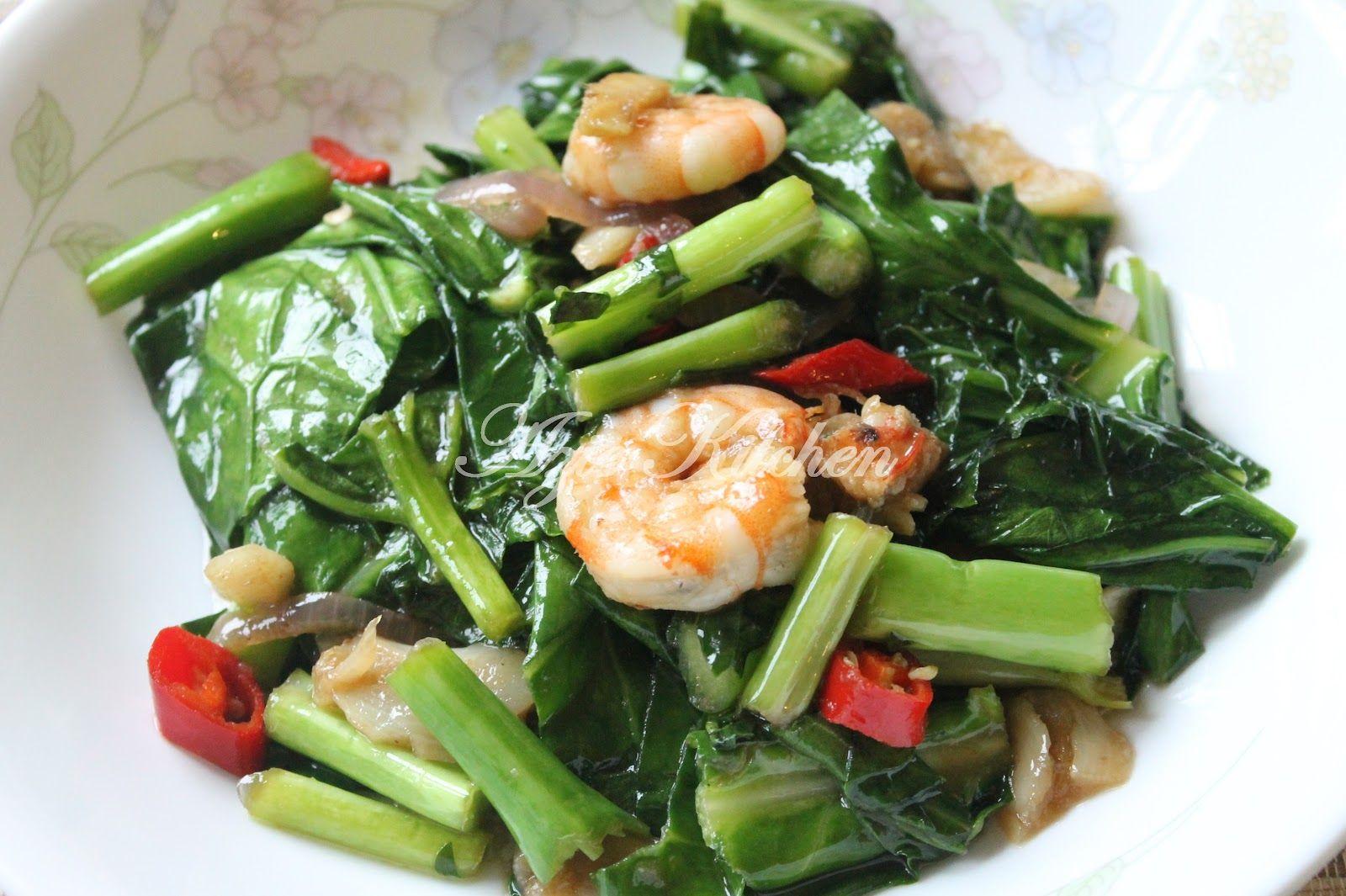 Azie Kitchen Baby Kailan Goreng Dengan Sos Tiram Confinement Food Vegetable Dishes Healthy Recipes