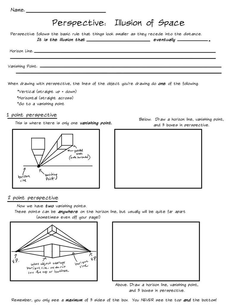 worksheet Perspective Worksheets illusion of space perspective by ccrask on deviantart art perspective