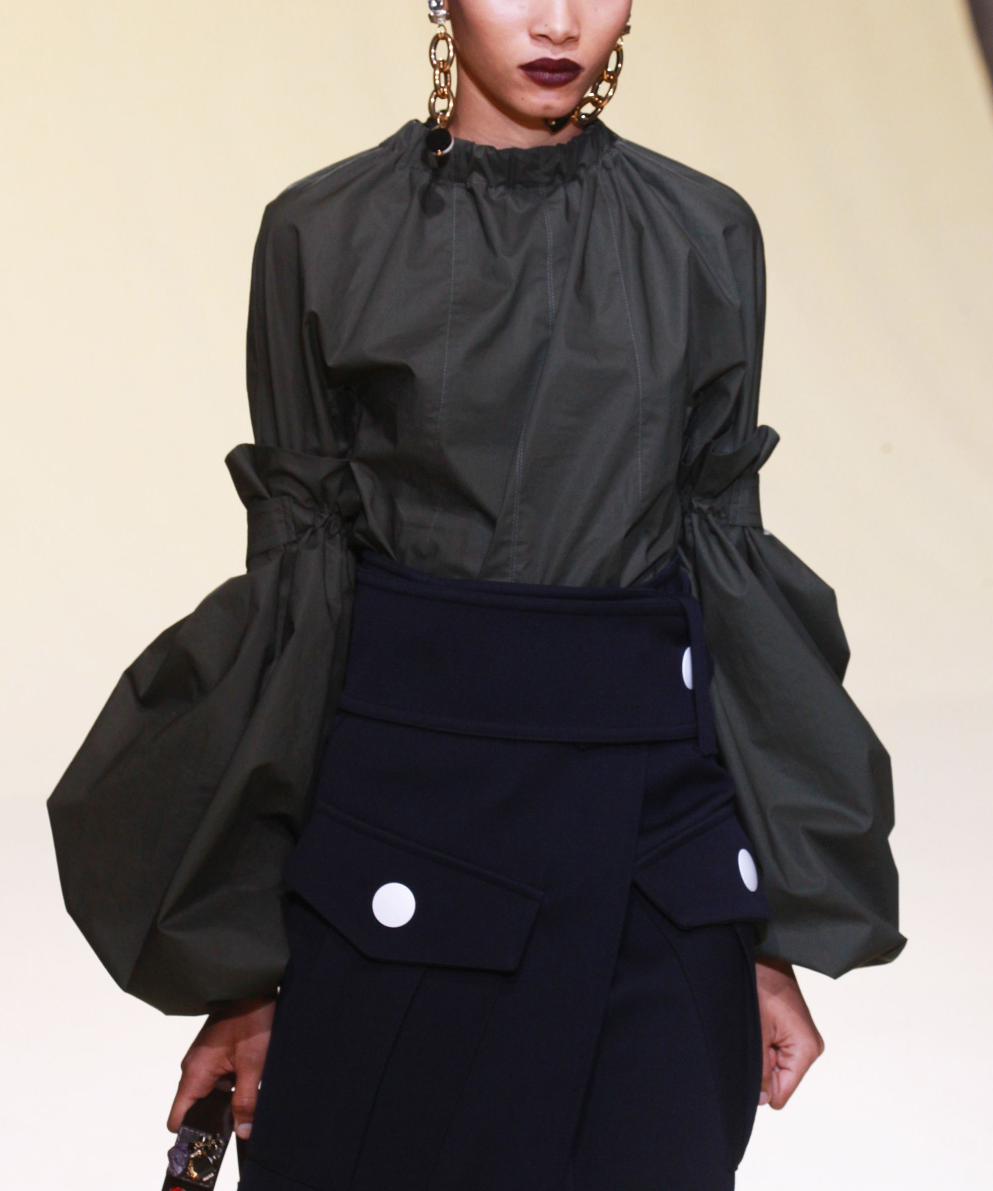 Beyond Bell Sleeves: 5 New Shapes To Know #refinery29  http://www.refinery29.com/2016/02/104186/marni-sleeves-mfw-2016