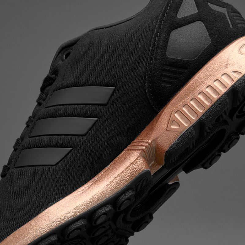 WOMENS ADIDAS ZX FLUX CORE BLACK COPPER ROSE GOLD BRONZE S78977 LIMITED  EDITION 3989e8d68