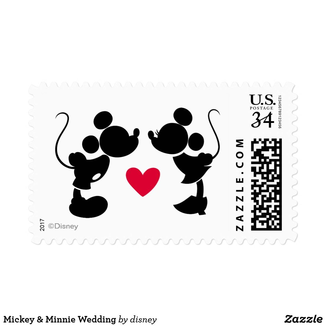 Mickey & Minnie Wedding Postage | Wedding Ideas, Favors | Pinterest ...