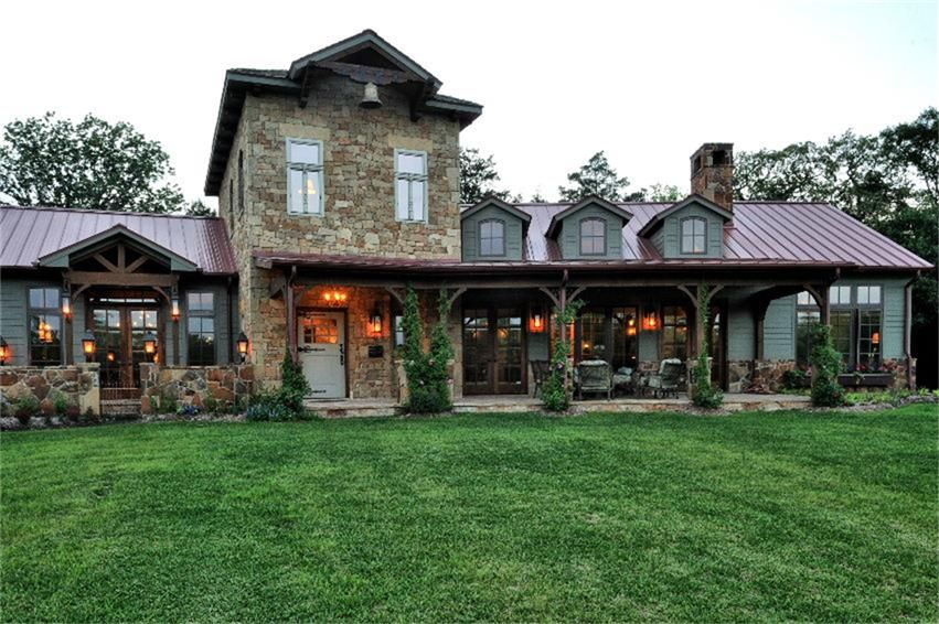 Texas Hill Country Style Home Austin Texas Hill Country Homes Country Style Homes Ranch House Plans