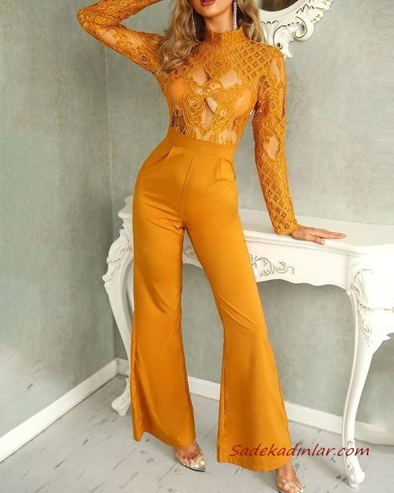 2020 Bayan Abiye Tulum Modelleri Siyah Askili Duz Yaka Sirt Dekolteli 2020 Moda Stilleri Kiyafet Ispanyol Paca