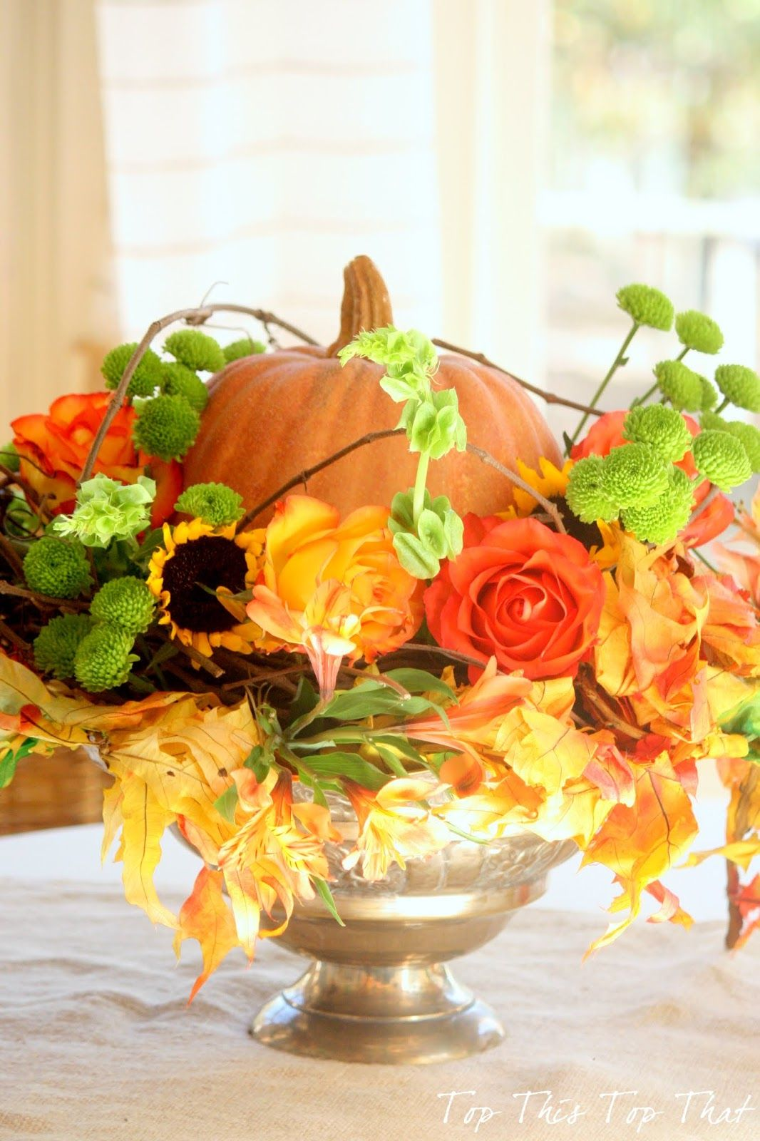 Last Minute Centerpiece Idea For The Thanksgiving Table Diy