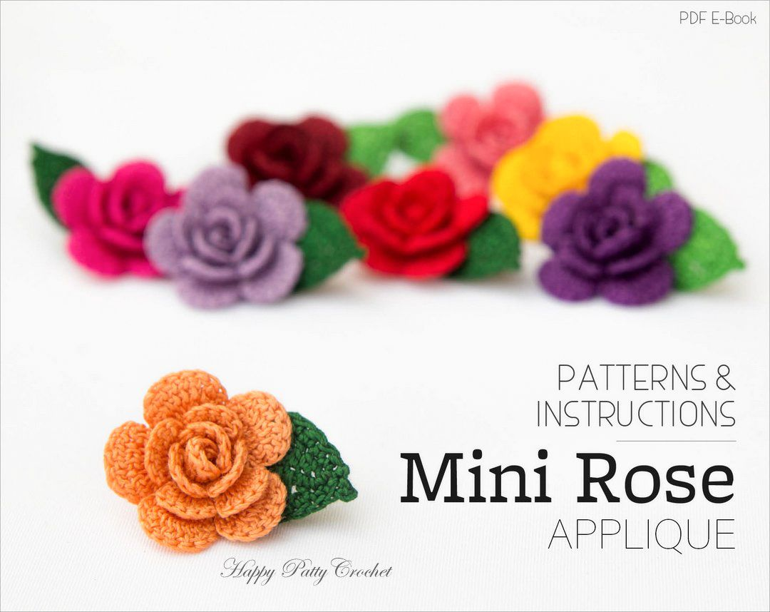 Mini Rose | Apliques, Flores y Flor