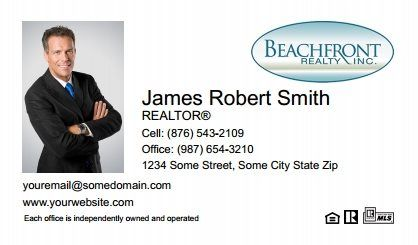 Beachfront Realty Business Cards Bri Bc 015 With Photo
