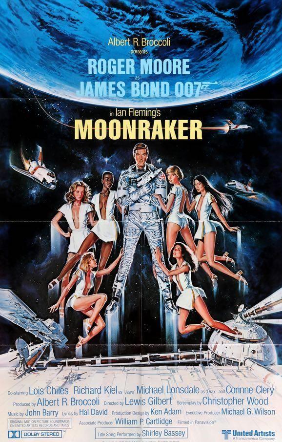 Moonraker 1979 James Bond Cartaz De Filme Roger Moore