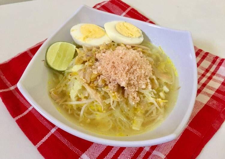 Resep Soto Ayam Lamongan Asli Kuah Butek Oleh Sofi Ariani Resep Resep Resep Masakan Masakan