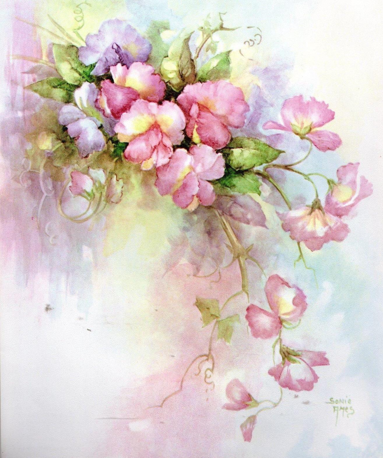 Epingle Par Gre Nadine Sur Jolis Papiers Fond Aquarelle Fleurs
