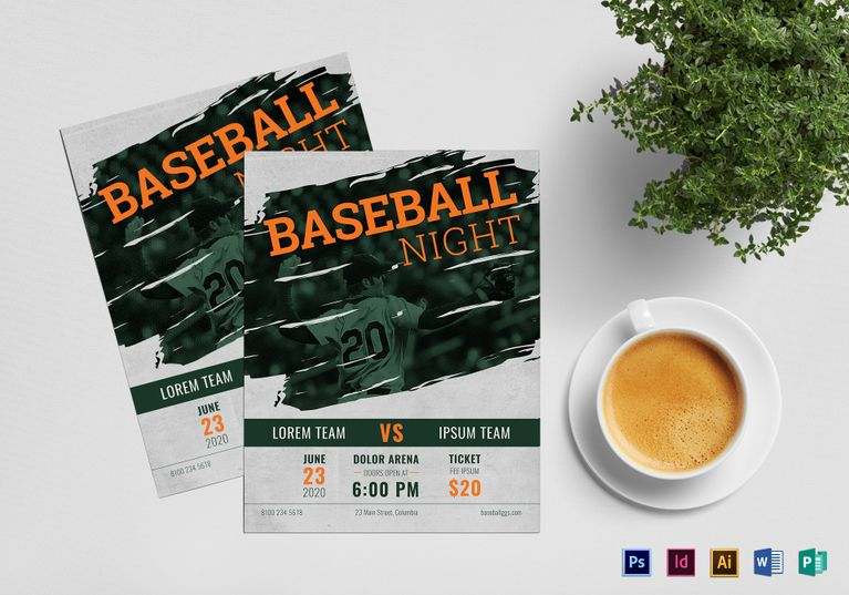 Baseball Flyer  Design Flyer Templates    Flyer Design