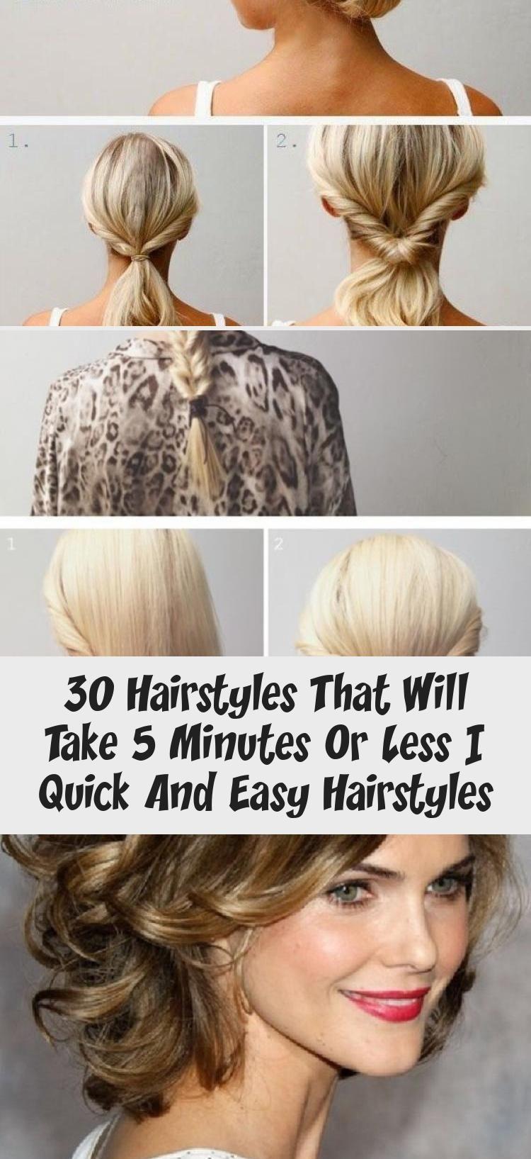 30 Frisuren Die 5 Minuten Oder Weniger Dauern Schnelle Und Einfache Frisuren Frisur 30 Frisuren Die 5 Minuten O In 2020 30er Frisuren Schnelle Frisuren Frisuren