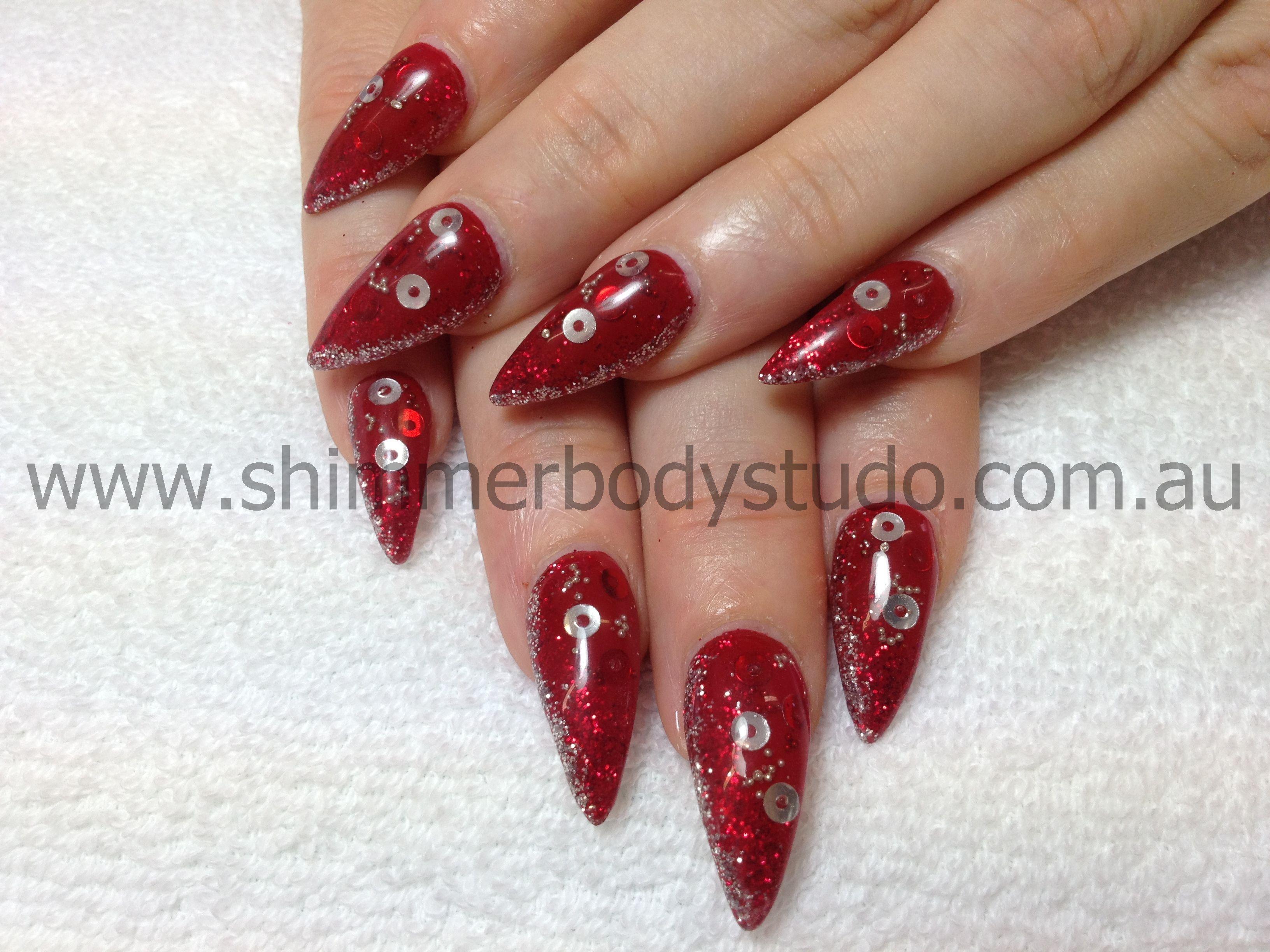 Glitter Nails, Gel Nails, Nail Art, Embedded Nail Art. | Nails: Full ...